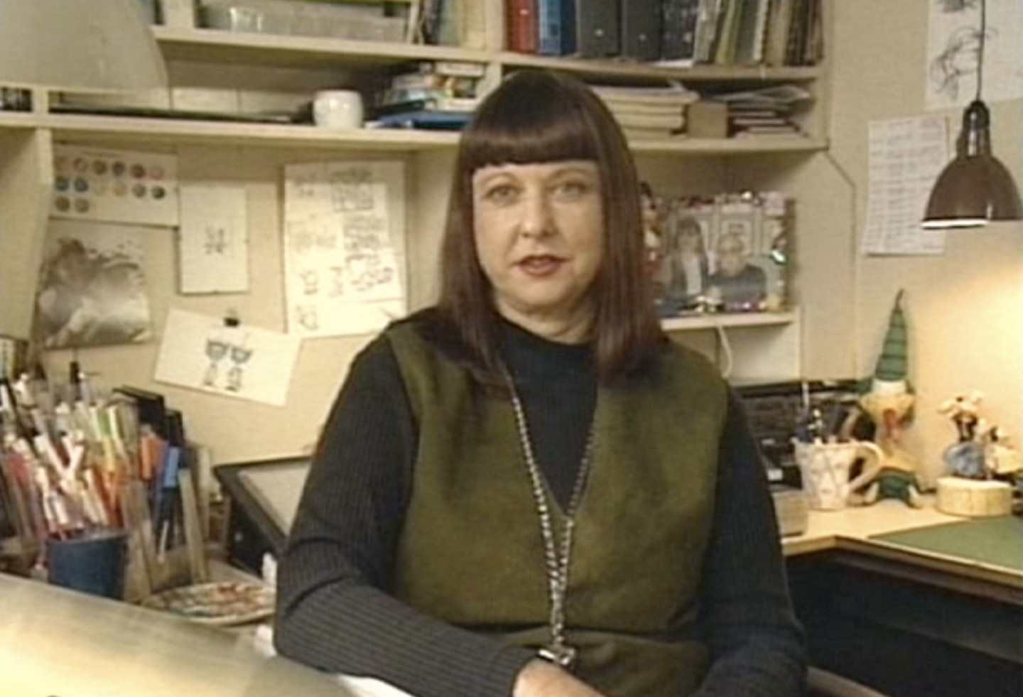 Bev Aisbett in her studio